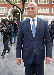 © Licensed to London News Pictures. 30/04/2018. London, UK. New Home Secretary Sajid Javid walks into the Home Office after posing for photographs. Amber Rudd resigned late last night. Photo credit: Peter Macdiarmid/LNP