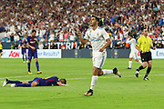 Real Madrid Midfielder Marco Asensio celebrates his goal during the International Champions Cup match between Real Madrid and FC Barcelona at the Hard Rock Stadium, Miami on 29 July 2017.