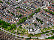 Nederland, Zuid-Holland, Rotterdam; 14–05-2020; stadsdeel Feijenoord met Essalam Moskee, klassoke moskee met minaretten, architect Wilfried van Winden.<br /> District Feijenoord with Essalam Mosque, classical mosque with minarets, architect Wilfried van Winden.<br /> <br /> luchtfoto (toeslag op standaard tarieven);<br /> aerial photo (additional fee required)<br /> copyright © 2020 foto/photo Siebe Swart
