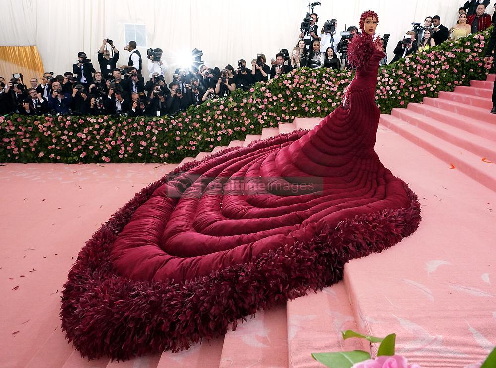 Cardi B attending the Metropolitan Museum of Art Costume Institute Benefit Gala 2019 in New York, USA.