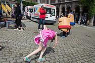Brussels Belgium zondag 02 July 2017 Fedasil organiseerde een feestje in het Petit Chateau Klein Kasteeltje. afscheidsfeestje want Fedasil verhuisd binnenkort van Brussel naar Neder-over-heembeek