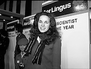 09/01/1981.01/09/1981.9th January 1981.The Aer Lingus Young Scientist of the Year Award at the RDS, Dublin..Catherine Conlan from Muckross Park College, Donnybrook, Dublin who was the winner of the Young Scientist award for her project 'A Study of Physical, Anatomical and Biochemical Aspects of the Spider and His Web Making Processes.'