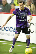Nick Stavrou (23) of the Dallas Sidekicks brings the ball up the field against the Rockford Rampage at the Allen Event Center on Saturday, February 9, 2013 in Little Elm, Texas. (Cooper Neill/The Dallas Morning News)