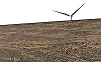 Electric Power windmill in the foothills of the Blue Mountains, Columbia County, Washington, USA