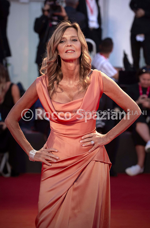 """VENICE, ITALY - SEPTEMBER 03: Eliana Miglio walks the red carpet ahead of the """"Om Det Oandliga"""" (About Endlessness) screening during the 76th Venice Film Festival at Sala Grande on September 03, 2019 in Venice, Italy."""