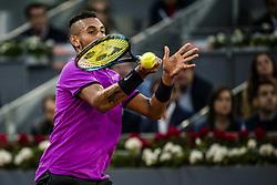 May 11, 2017 - Madrid, Madrid, Spain - Nick Kyrgios (AUS) returns the ball to Rafael Nadal (ESP) in round 3X of the 'Mutua Madrid Open' 2017. Nadal won 6:3, 6:1 (Credit Image: © Matthias Oesterle via ZUMA Wire)