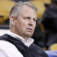 10 May 2012: President of Basketball Operations for the Boston Celtics Danny Ainge is seen prior to the Boston Celtics 83-80 victory over the Atlanta Hawks, in Game 6 of the Eastern Conference first-round playoff series, at the TD Banknorth Garden, Boston, Massachusetts, USA.