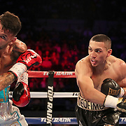 NEW ORLEANS, LA - JULY 14:  Teofimo Lopez (R) fights Willian Silva during the Regis Prograis v Juan Jose Velasco ESPN boxing match at the UNO Lakefront Arena on July 14, 2018 in New Orleans, Louisiana.  (Photo by Alex Menendez/Getty Images) *** Local Caption *** Teofimo Lopez; Willian Silva