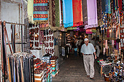 Shops and stalls in an Alley in the Old City, Jerusalem, Israel