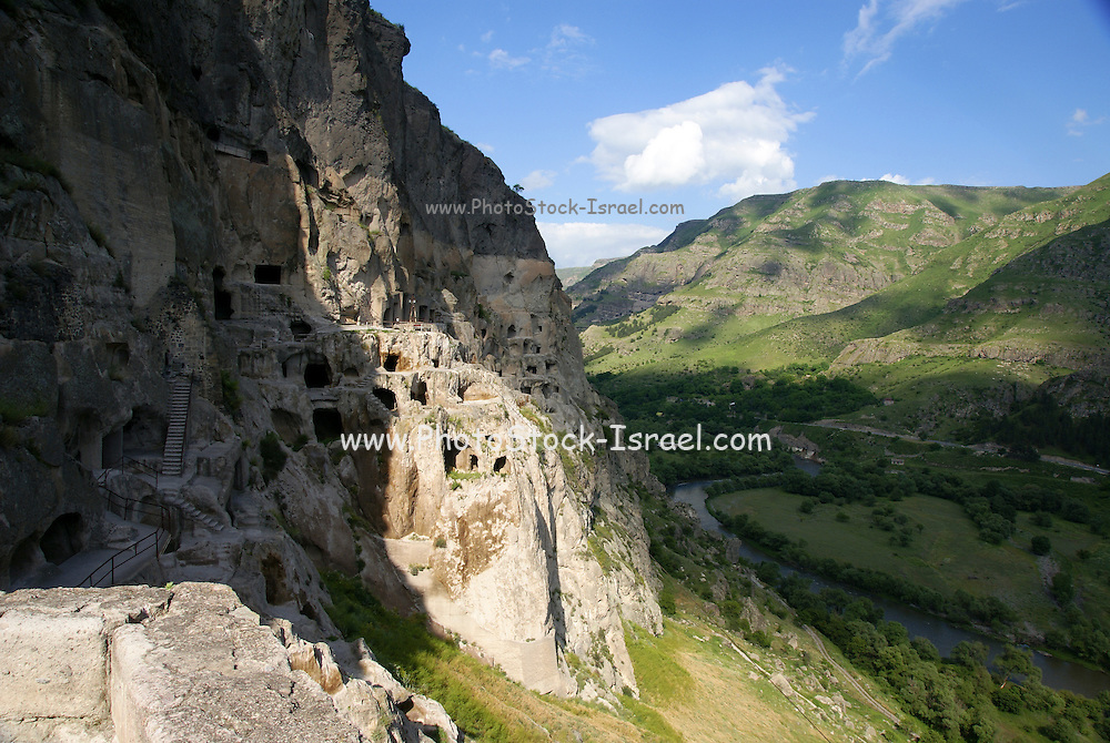 Georgia, The cave city of Vardzia a cave city and monastery dug into the side of the Erusheli mountain in southern Georgia near Aspindza on the bank of the Mtkvari River. It was founded by Queen Tamar in 1185.