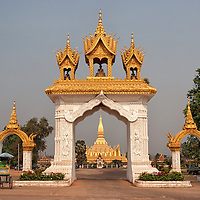 The entrance gate to Pha That Luang, the gold-covered stupa of Vientiane.