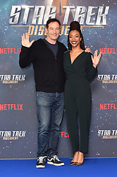 Jason Isaacs and Sonequa Martin-Green attending a Star Trek: Discovery fan screening at Millbank Tower in London.
