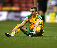 Photo: Paul Greenwood/Sportsbeat Images.<br /> Stoke City v Norwich City. Coca Cola Championship. 01/12/2007.<br /> Reaction from Darren Huckbery as Norwich loose 2-1 after leading 0-1