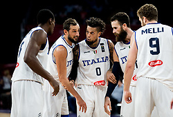 Paul Biligha of Italy, Marco Belinelli of Italy, Daniel Hackett of Italy, Luigi Datome of Italy and Nicolo Melli of Italy during basketball match between National Teams of Italy and Serbia at Day 14 in Round of 16 of the FIBA EuroBasket 2017 at Sinan Erdem Dome in Istanbul, Turkey on September 13, 2017. Photo by Vid Ponikvar / Sportida