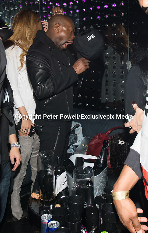 EXCLUSIVE<br /> Floyd Mayweather on his UK tour  inside Playground nightclub in Liverpool.<br /> ©Peter Powell/Exclusivepix Media