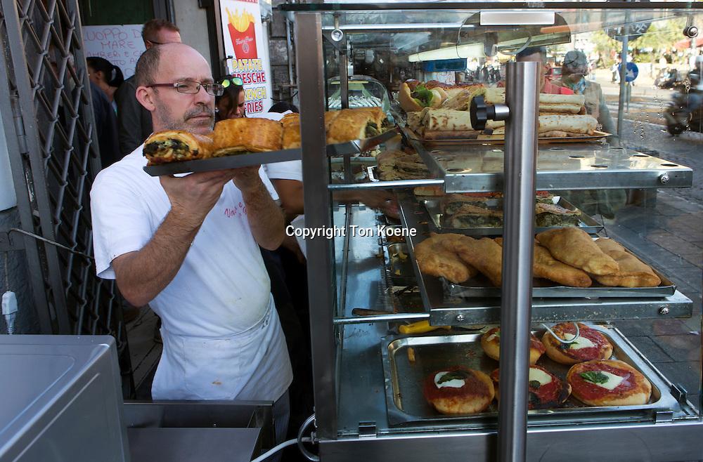 pastry shop at the via enrico pessina, naples