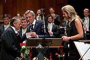 King Willem-Alexander and Queen Maxima at the farewell concert of Mariss Jansons, chief conductor of