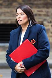 London, October 31 2017. International Development Secretary Priti Patel attends the UK cabinet meeting at Downing Street. © Paul Davey