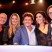 NLD/Hilversum/20110130 - Nationaal Songfestival 2011, Danielle Dekker, Annemieke Schollaardt, Rene Froger, Hind Laroussi Tahari en Eric van Tijn