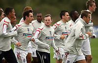 Photo: Paul Thomas.<br /> England Training. 06/10/2006.<br /> <br /> Wayne Rooney and England.