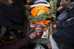 March 27, 2019 - Dheisheh Refuges'S Camp, Bethleh, West Bank - Palestinians make the last farewell of Sajed Mizher, a 17 years old Palestinian volunteer Medic who'd been shot dead by Isareli army during a night raid while he was healing a wounded civillian at Dheisheh RC. (Credit Image: © Mustafa Bader/ZUMA Wire)