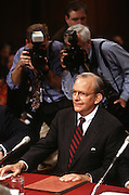 National Security Advisor Anthony Lake before testifying in the Senate Intelligence Committee hearing on his nomination as Director of the CIA March 11, 1997.