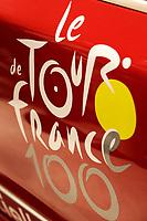 CYCLING - PRESENTATION TOUR DE FRANCE 2013 - PARIS (FRA) - 24/10/2011 - PHOTO JULIEN BIEHLER / DPPI - Logo Illustration - The 100th edition - Centenaire