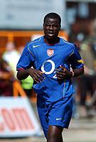 Emmanuel Eboue<br />Arsenal 2005/06<br />Barnet V Arsenal Pre Season Friendly 16/07/05<br />Photo Robin Parker Fotosports International