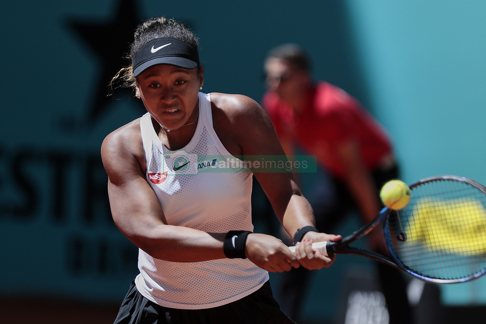 May 9, 2019 - Madrid, Madrid, Spain - Naomi Osaka seen in action during the Mutua Madrid Open Masters match on day 7 at Caja Magica in Madrid. (Credit Image: © Legan P. Mace/SOPA Images via ZUMA Wire)