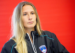 Polona Hercog during press conference of Slovenian women Tennis team before Fed Cup tournament in Tallinn, Estonia, on January 28, 2015 in Kristalna palaca, Ljubljana, Slovenia. Photo by Vid Ponikvar / Sportida