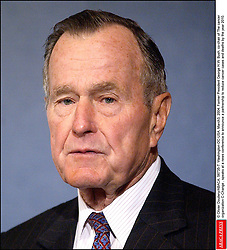 © Olivier Douliery/ABACA. 56735-7. Washington-DC-USA, March3, 2004. Former President George H.W. Bush, co-chair of The cancer organization C-Change , speaks at a news conference to announce a partnership to reduce cancer cases and deaths by the year 2010.
