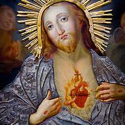 religious painting (Jesus) (Vilnius, Lithuania - Aug. 2008) (Image ID: 080809-1620002a)