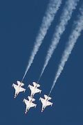 Flight demonstration by the USAF Thunderbirds flight team