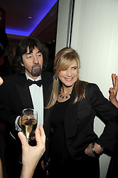 SIR TREVOR NUNN and his wife IMOGEN STUBBS at the 2008 Costa Book Awards held at the Intercontinental Hotel, Hamilton Place, London on 27th January 2009.