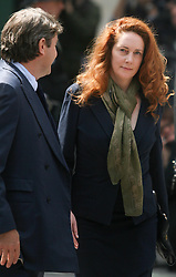 © Licensed to London News Pictures. 12/06/2012. London,Britain. Rebekah Brooks and her husband Charlie leave Westminster Magistrates Courts. Photo credit : Thomas Campean/LNP