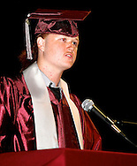 Live Oak High School senior Nick Wigmore speaks during graduation at the Beede Auditorium at Antioch High School on Thursday, June 7, 2012. (Photo by Kevin Bartram)