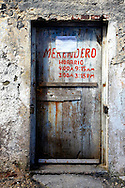 Old shop door in Gibara, Holguin, Cuba.