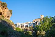 River Tajo limestone gorge cliffs, Alhama de Granada, Spain
