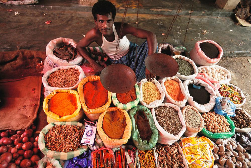 Municipal market at Galewela, Sri Lanka.