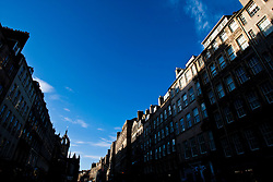 Buildings on High Street, Edinburgh in the December sunlight..Pic © Michael Schofield.