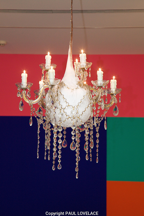 The new Museum of Contemporary Art, Sydney Australia opens today..Frozen Chandelier by artist Nicholas Folland