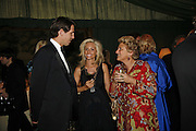 Prince Pavlos and Princess Marie -Chantal of Greece and Dame Vivian Clore, Ark Gala Dinner, Marlborough House, London. 5 May 2006. ONE TIME USE ONLY - DO NOT ARCHIVE  © Copyright Photograph by Dafydd Jones 66 Stockwell Park Rd. London SW9 0DA Tel 020 7733 0108 www.dafjones.com