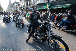 Brady Street Experience, where Brady was closed to 4-wheelers and a street party raged until late at night during the Harley-Davidson 115th Anniversary Celebration event. Milwaukee, WI. USA. Friday August 31, 2018. Photography ©2018 Michael Lichter.
