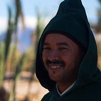 Africa, Morocco, Skoura. Moroccan Male villager near Skoura.