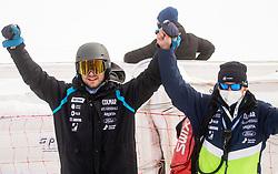 Robi Kristan and Jure Hafnar Hefo during 2nd Run of Ladies' Giant Slalom at 57th Golden Fox event at Audi FIS Ski World Cup 2020/21, on January 17, 2021 in Podkoren, Kranjska Gora, Slovenia. Photo by Vid Ponikvar / Sportida