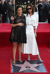 Eva Longoria Hollywood Walk Of Fame Ceremony. 16 Apr 2018 Pictured: Eva Longoria and Victoria Beckham. Photo credit: MPIFM/Capital Pictures / MEGA TheMegaAgency.com +1 888 505 6342