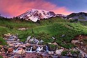 Mount Rainier and Edith Creek, Washington, USA