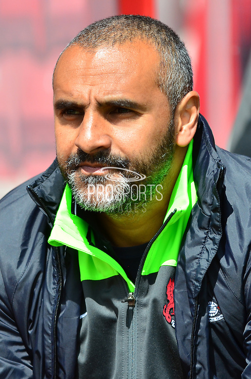 Leyton Orient manager Fabio Liverani during the Sky Bet League 1 match between Swindon Town and Leyton Orient at the County Ground, Swindon, England on 3 May 2015. Photo by Alan Franklin.