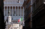 Altare Della Patria Monument, also known as the Vittorio Emanuele II, Rome, Italy.