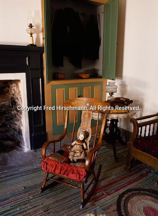 Rocking chair in the Parlor of Winsor Castle, Pipe Spring National Monoument, Arizona.